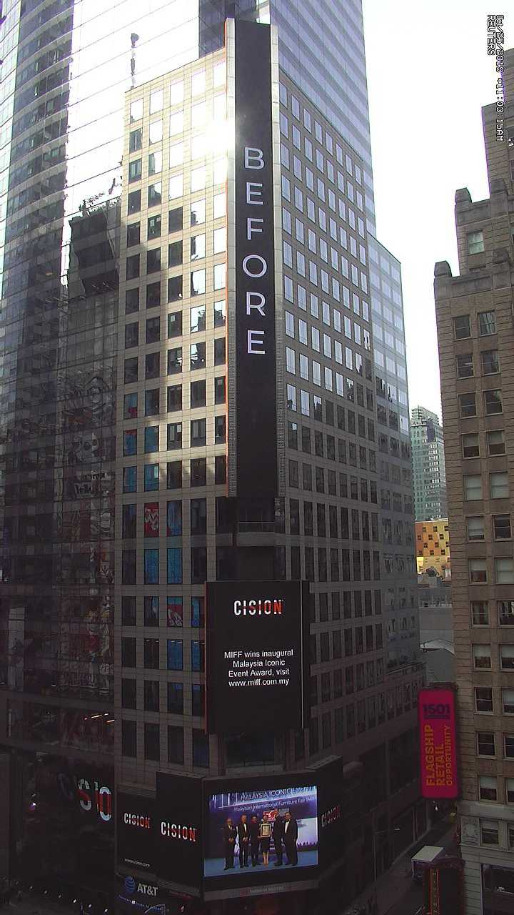 MIFF Features on Times Square, NY
